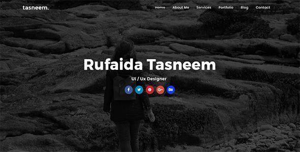 Tasneem - Personal One Page Portfolio Template