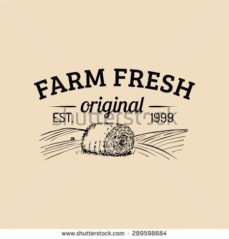 Vector Retro Farm Fresh Logotype. Vintage Farm Logo. Organic Farm ...