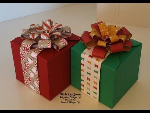 Stampin'Up! Gift box for mini box card - YouTube