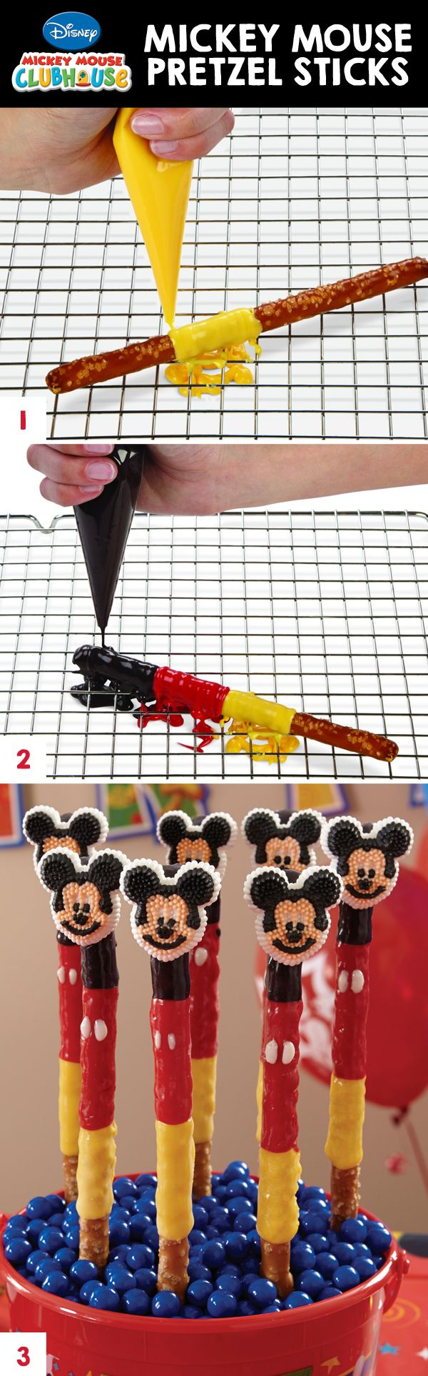 Mickey Mouse Candy Pretzel Rods @partycity