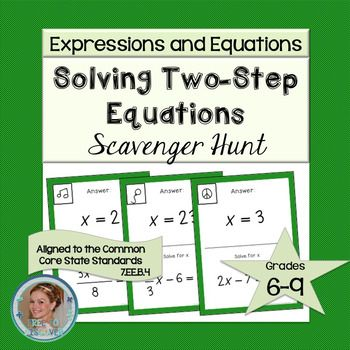 #mathdollardeals Solving Two-Step Equations Scavenger Hunt $1 on 12/20 only