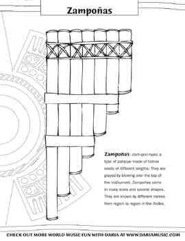 Color the Zampo as Panpipes From