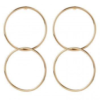 Interlocking Smooth Circle Earrings