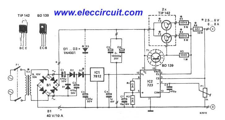 5v 5a Power Supply Circuit Electronic Circuit Projects Electronics Circuit Electronic Circuit Projects Circuit Projects
