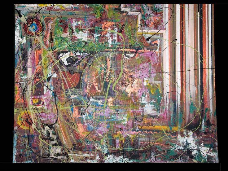 """Bandes / Stripes 2008 30"""" x 24"""" Acrylique sur toile Acrylic on canvas"""