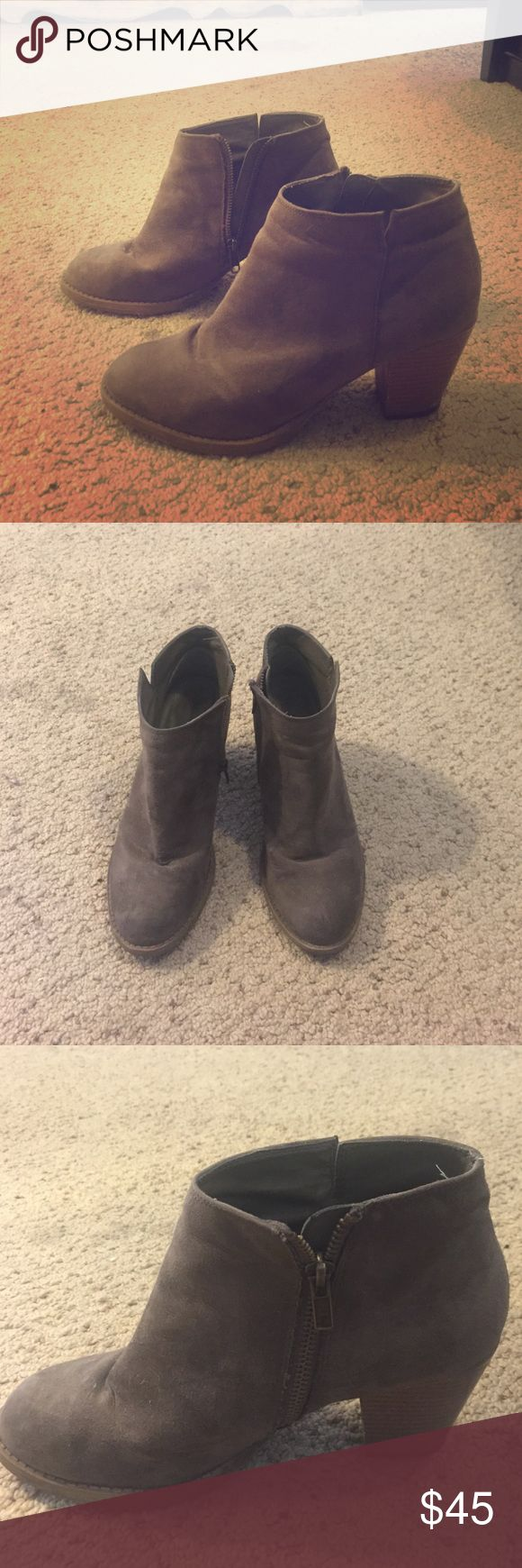 "Gabriella Rocha Grey booties ! Gabriella Rocha. Zip up from the side. 2"" heel. Great for everyday wear. Look good with dresses, jeans, skirts, shorts! A little worn and stiff but still great. Gabriella Rocha Shoes Ankle Boots & Booties"