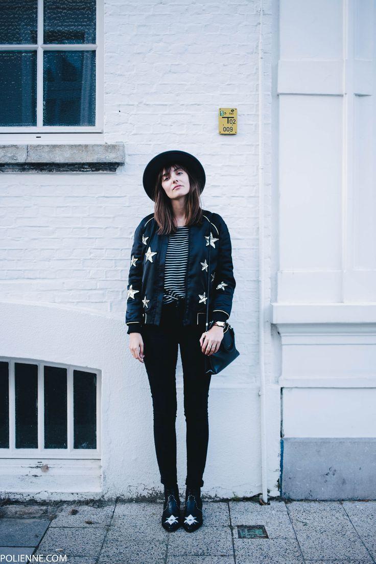 POLIENNE | wearing a ZOE KARSSEN star bomber jacket, CHEAP MONDAY denim, H&M hat, COACH bag & MOROBE cowboy boots