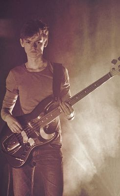 Thomas Brodie-Sangster on the bass guitar. My life has been completed