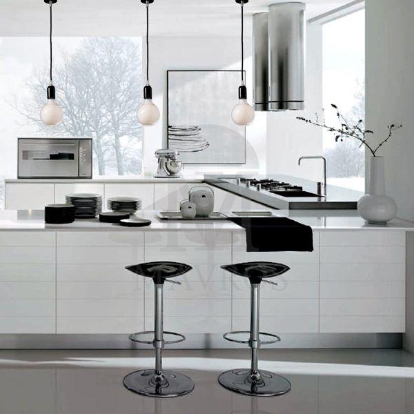 ΜΑΥΡΟΣ -- Modern kitchen | ΜAVROS LIGHTING
