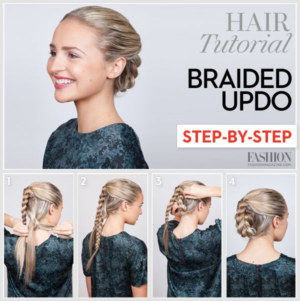 Braided updo tutorial: Learn how to do this sleek holiday hairstyle in 4 easy steps