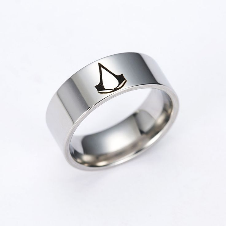 Drop Shipping Assassins' Creed Master Ring Anime Assassins Creed Stainless Steel Brand Ring For Men And Women