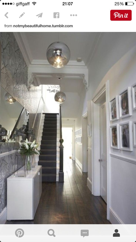 Bright hallway wallpaper   best  h a l l w a y  images on Pinterest  Architecture