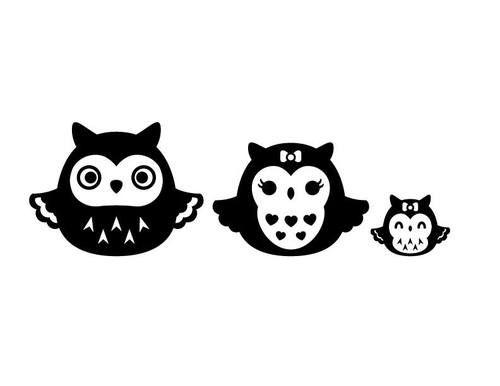 #owlfamily #decal #design #ooak