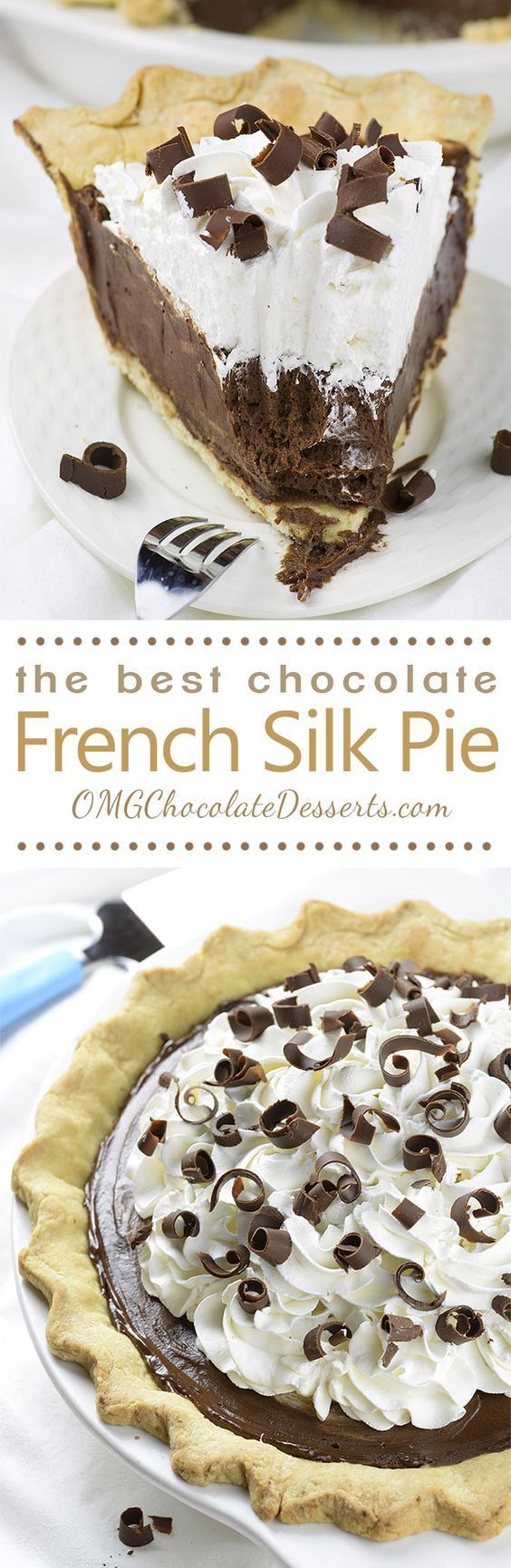 Chocolate French Silk Pie (not gluten-free)