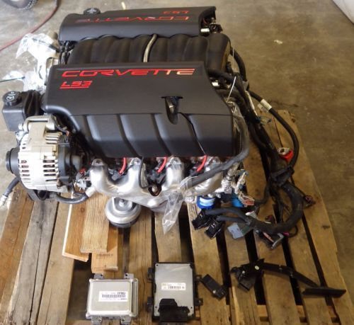 Ls3 Engine Package For Sale: 2008-C6-Corvette-LS3-Complete-Drop-Out-Engine-Assembly-34