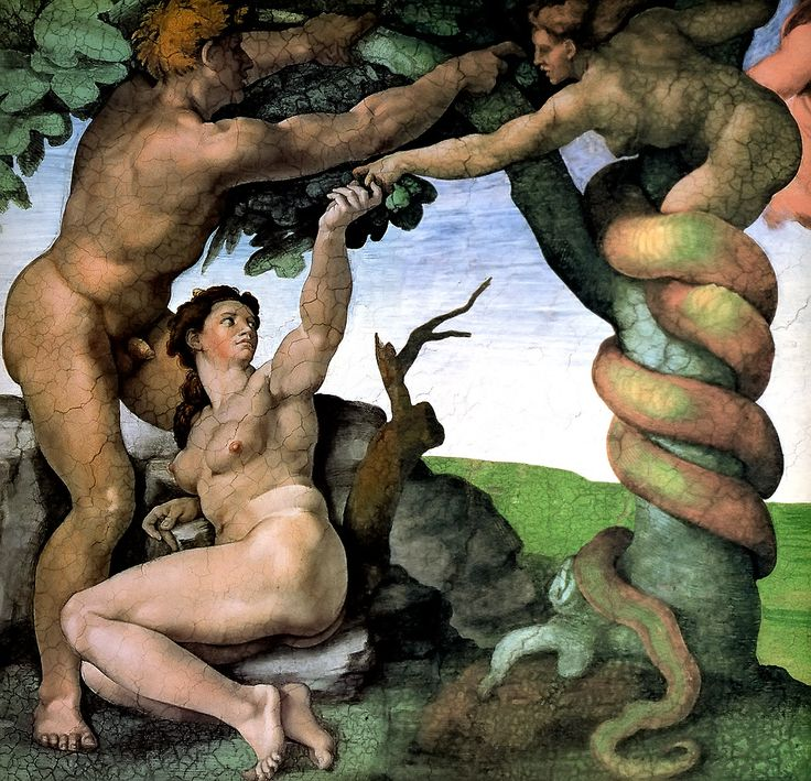 Adam and Eve by Michelangelo, 1512. Today, March 6, is the birthday of Michelangelo. He was considered the greatest living artist in his lifetime, and ever since has been held to be one of the greatest artists of all time