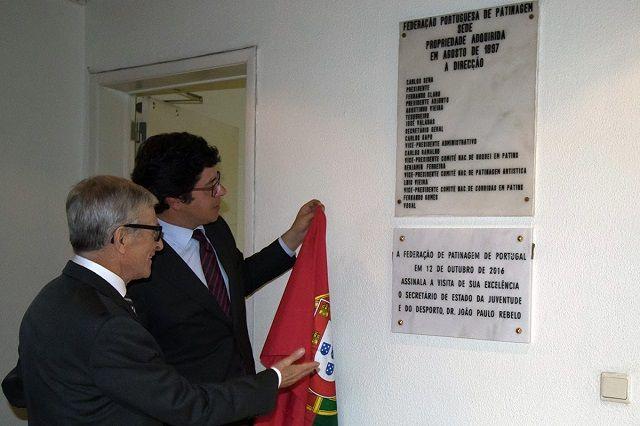 Hóquei em Patins: Resumo da visita do Secretário de Estado do Desporto à FPP