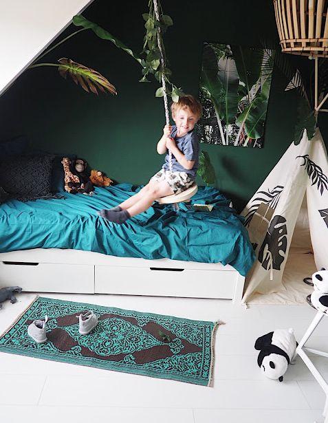 Kids Teepee tent #moozleteepee #customteepee #jungletheme #jungleroom #kidsroom #boysroom #playroomideas #nurserydecor #teepee Tipi #kidsteepee #enstijl #dutchblogger #interiorblogger #botanicalinspo #botanicalinterior #enstijl