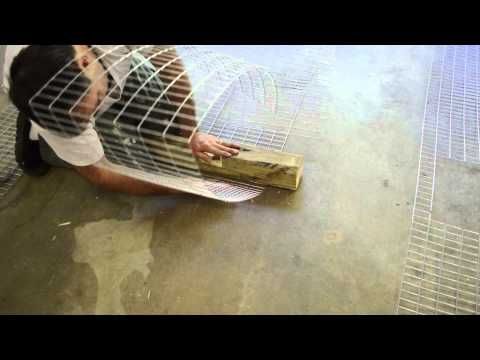 How to build wire Rabbit cages. EASY DIY - YouTube