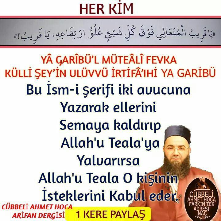 Dikkat # Cübbeli Ahmet Hoca Efendi. ...