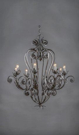 Cordoba Vintage Wrought Iron Chandelier - 8 Light u0026 crystal lighting for  SALE. Large range, buy online at wholesale