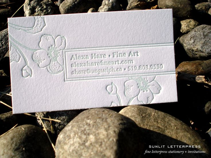 15 best Custom Letterpress Business Cards Sunlit Letterpress - letterpress business card