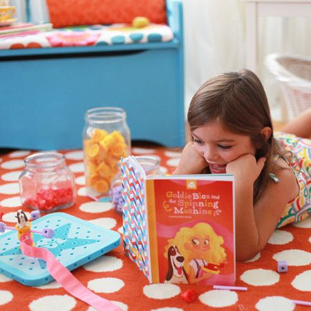 GlodieBlox, a little girl with mismatched socks and a can-do attitude, she's the hero of her own story book, and the introduction – for many little girls – to a world of problem-solving, spatial skills building, and ultimately, engineering.