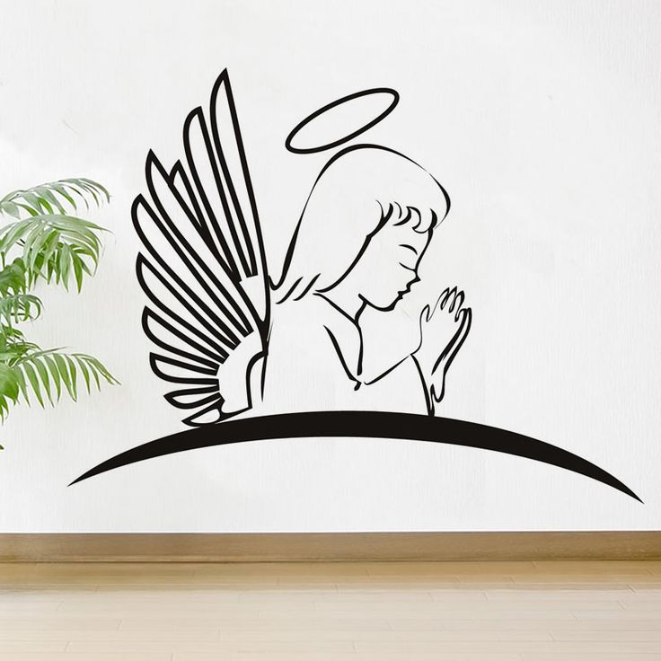 Holy Angel Praying Wall Sticker //Price: $11.73 & FREE Shipping //     #stickers
