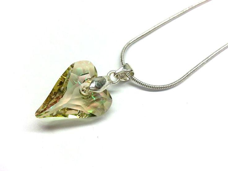Ezüstözött swarovski kristály nyaklánc