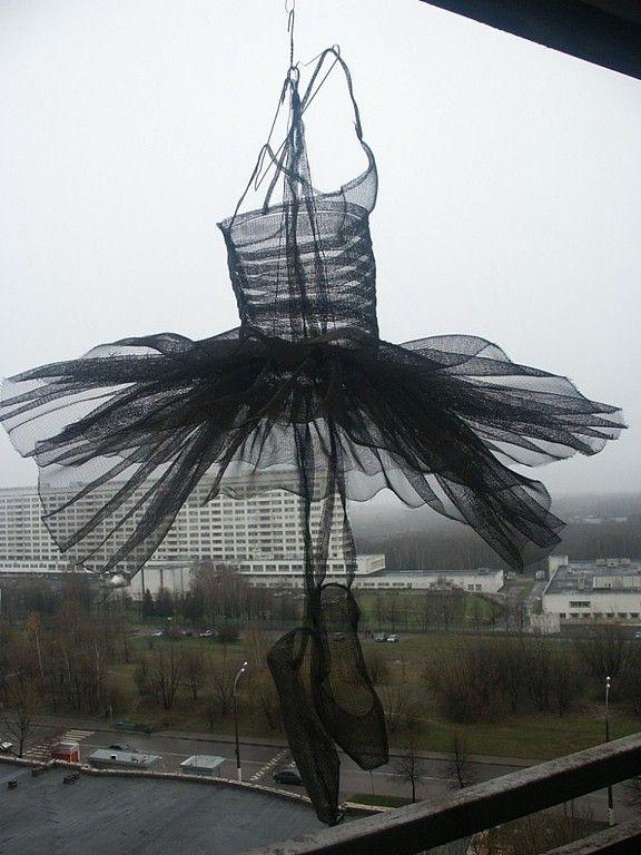 """Купить Потолочный абажур """"Балетная пачка"""". - чёрный, светильник, абажур ручной работы, балет, балерина"""