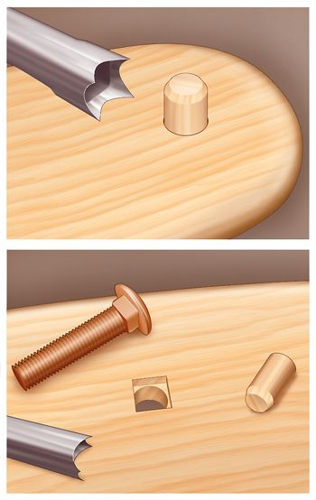 How To: Fitting a Square-Shouldered Carriage Bolt with a Chisel, Dowel and Dead-Blow Mallet