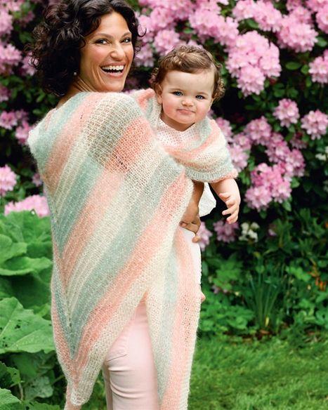 Smukt bindesjal til mor og barn, som også kan bruges som lune tæpper.