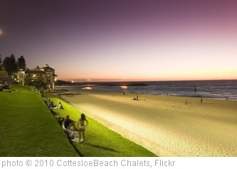 Get fish and chips on the beach - one of the best free things to do in Perth   'Purple Sunset Cottesloe Beach Chalets' photo (c) 2010, CottesloeBeach Chalets - license: http://creativecommons.org/licenses/by-nd/2.0/