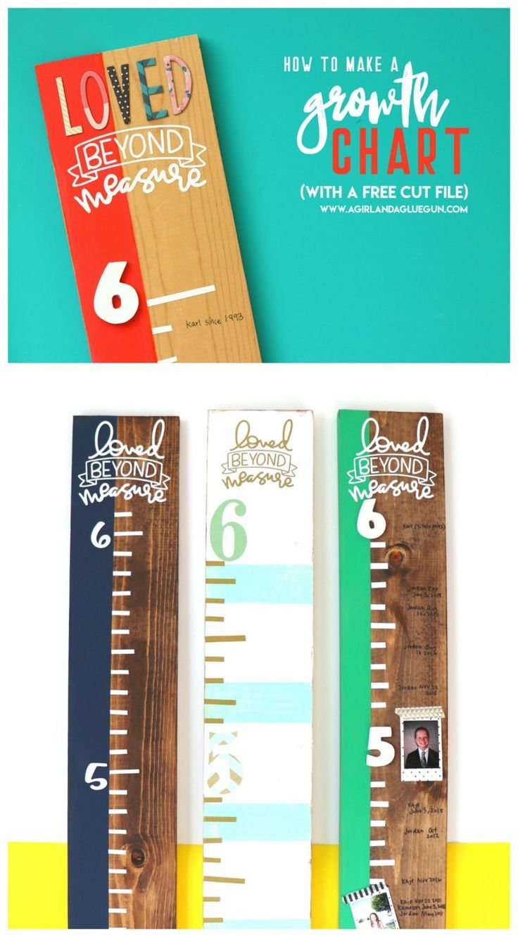 How to make a growth chart Growth chart ruler, How to