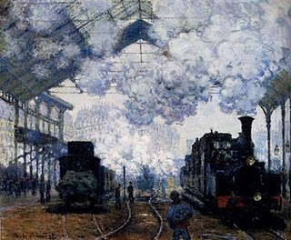 Monet - The Gare Saint-Lazare: Arrival Of A Train   1877