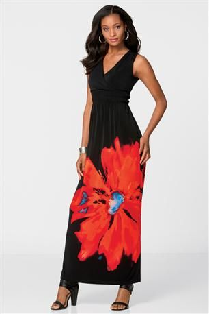 Oversized Flower Maxi Dress