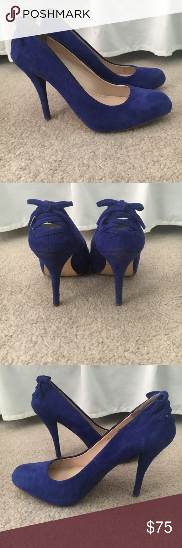 Blue suede pumps Chinese Laundry blue suede pumps, size 7.5, worn multiple times but only signs of use are the scuffs on the bottom sole of the shoe. Chinese Laundry Shoes Heels
