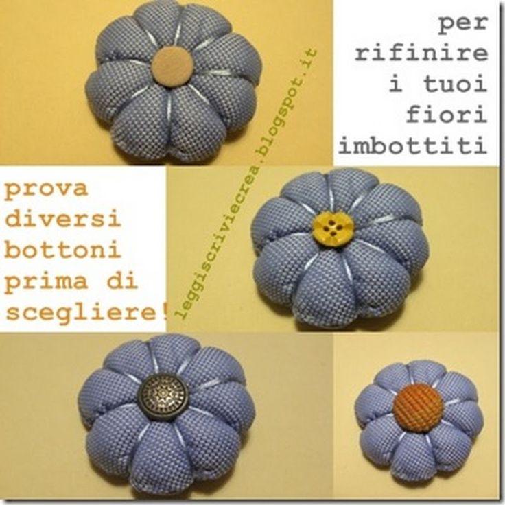 shabbylife: TUTORIAL: fiori di stoffa imbottiti
