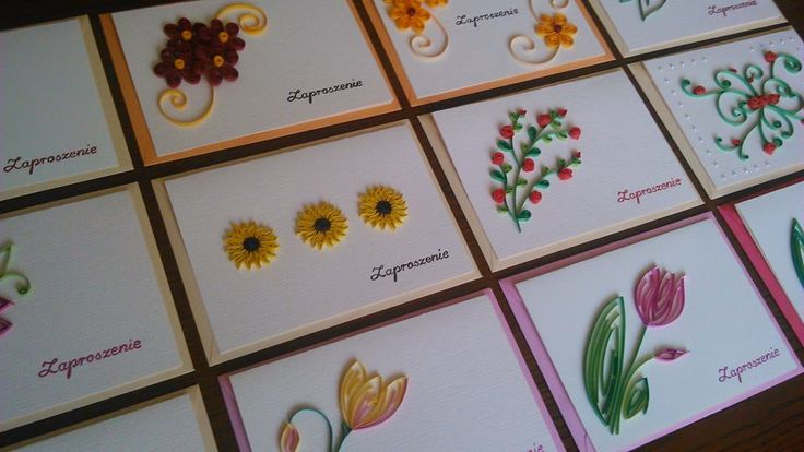 a lot of quilled cards made by Asia Pawełek