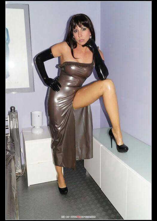 milf in heels latex dress gloves stockings leather latex pvc vinyl costumes. Black Bedroom Furniture Sets. Home Design Ideas