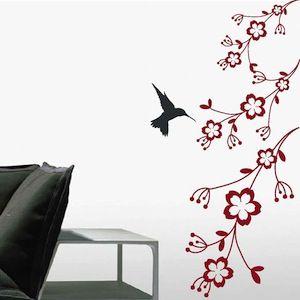 hummingbird feeder wall art design - Wall Decals Designs