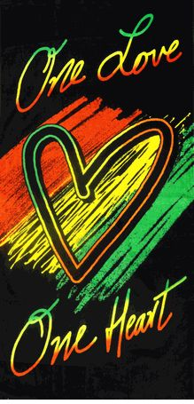 One Love Rasta Beach & Bath Towel