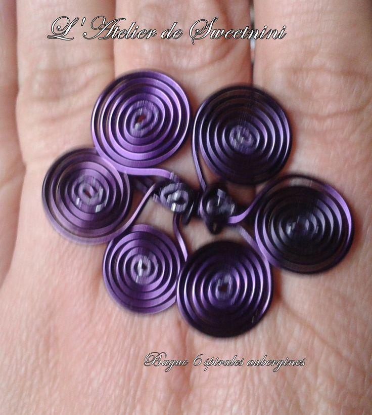 Bague 6 spirales (laiton violet)