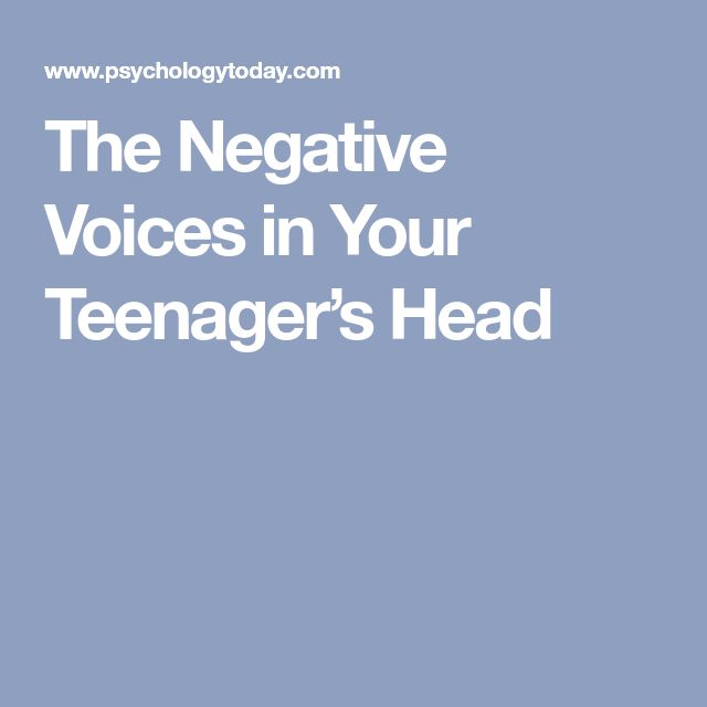 Family 519 pinterest the negative voices in your teenagers head negle Gallery