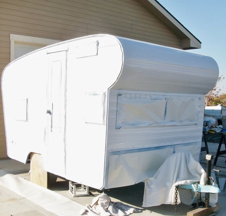 Best Trailers And Rv Makeovers Images On Pinterest Retro - Old shabby trailer gets one hell makeover