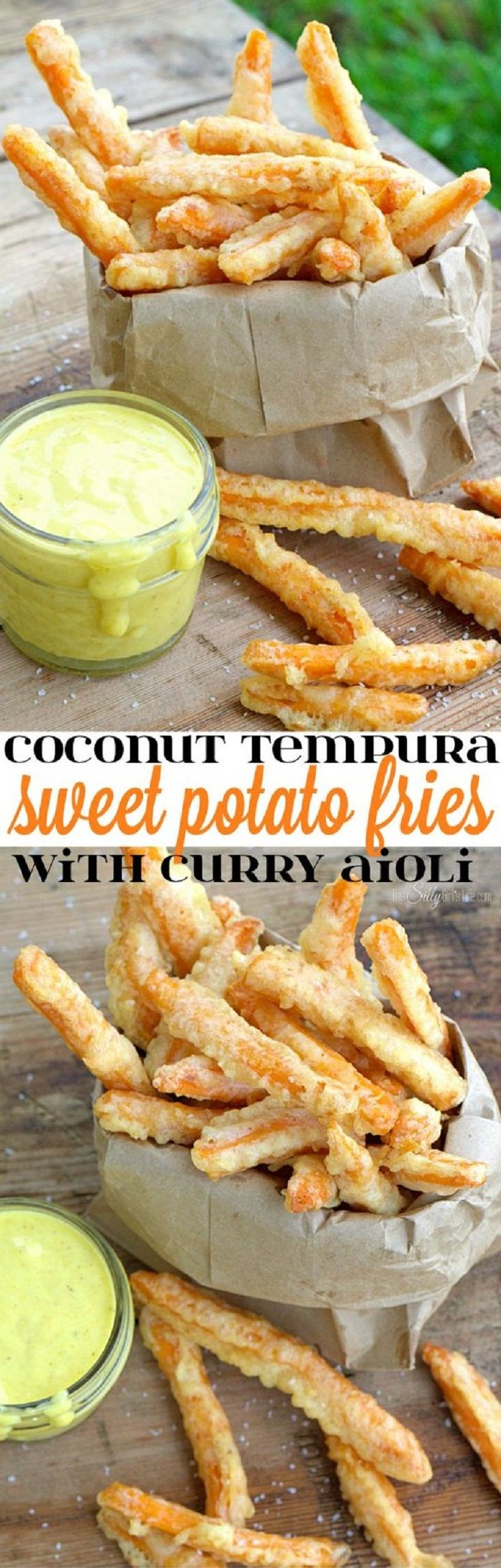 Coconut Tempura Sweet Potato Fries with Curry Aioli - 14 Beautifully Executed Sweet Potato Fries