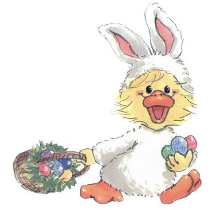 Easter Duck Bunny Basket Colored Eggs Graphicsfree Easter Graphics Target It Marketing Easter Holiday Graphics Hoppy Easter