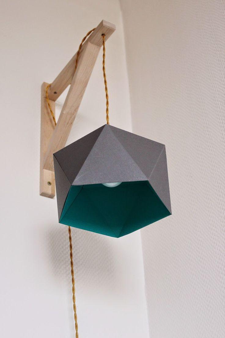 les 25 meilleures id es de la cat gorie origami lampe sur pinterest lampes en papier lampe de. Black Bedroom Furniture Sets. Home Design Ideas
