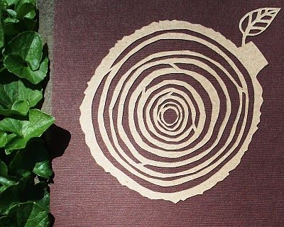papercut tree rings