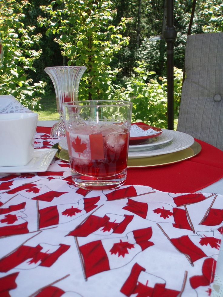 Canada Day Place setting idea